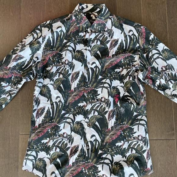 Salvatore Ferragamo Tropical print Shirt